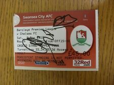 03/11/2012 Autographed Ticket: Swansea City v Chelsea  - Hand Signed By Cesar Az