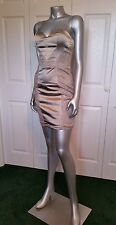 100% AUTHENTIC NWT BEBE STRAPLESS WITH LACE INST DRESS SIZE  4