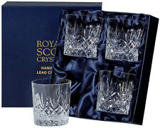 ROYAL SCOT CRYSTAL 'EDINBURGH' 4 LARGE TUMBLERS - GIFT BOXED (NEW)