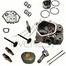 FOR HONDA GX340 11HP CYLINDER HEAD PISTON AIR FILTER ROCKER ARMS CONNECTING ROD