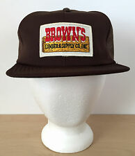VTG Browns Lumber Supply Co. Brown Patch Mesh Hipster Trucker Hat Cap Snapback