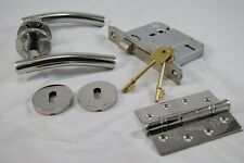 Arched Handle Pack (External Timber Door Set)Hinge, Polished Stainless Steel