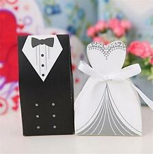 10 BRIDE AND GROOM WEDDING FAVOR BOXES Bridal Shower Gift Candy Box #ST4