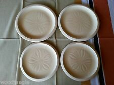 4 pc FRANCISCAN WARE USA SEA SCULPTURES THE SAND DOLLAR PLATES DINNER LUNCH SAND