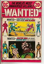 DC Comics Wanted The Worlds Most Dangerous Villains #8 July 1973 VF