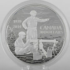 2014 $30 Machine Gun Training WWII Anniversary, 2 oz Pure Silver Proof Coin
