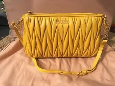 100% auth MIU MIU by PRADA Matelasse quilting leather bag shoulder bag new
