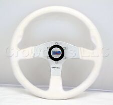 Sport Line 350mm Atlantic Marine Boat Steering Wheel - White Polyurethane