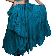 British Australian 25 Yard Tribal Belly Dancing Cotton Skirts for Practice