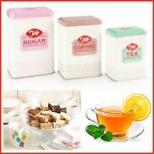 TALA Retro Vintage Style Tea Coffee Sugar Canister Food Kitchen Storage Tins 3pc