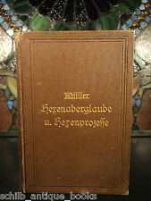1893 Witch Hunts Witchcraft Evil Demons Occult Germany Magic in Middle Ages
