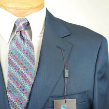 50L STEVE HARVEY Solid Blue Suit - 50 Long Mens Suits - SH03