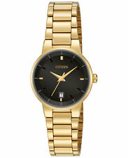 New Citizen Women's Dress Gold Tone Stainless Steel Bracelet Watch EU6012-58E