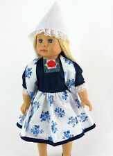 """Holland Style Dress Fits 18"""" AMERICAN GIRL DOLL CLOTHES 3pcs"""