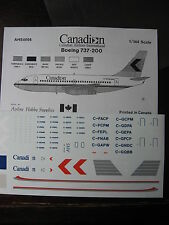 1/144 AHS DECAL BOEING 737-200 CANADIAN AIRLINES INTERNATIONAL DECALCOMANIES