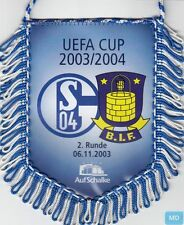 FC Schalke 04 + Wimpel Banner + UEFA-Cup 2003/2004 vs Bröndby IF + Sammler RAR +