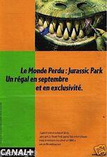 Publicité advertising 1999 Canal + Jurassic park