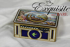 Antique Griesbaum Hand Painted Enamel Mechanical Singing Bird Box Automaton