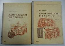 Werkstoffkunde der Textilien Teil 1+2 Fachbuch Willmar Senf / altes Fachbuch