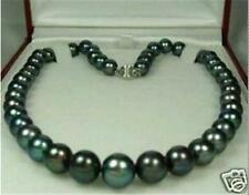NEW Charming! Black 7-8mm Natural akoya Pearl Necklace 18""