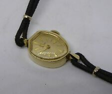 Ladies' OMEGA 14ct Gold Mechanical Cocktail Wristwatch On Gemex 10k GF Strap