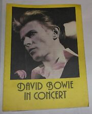 David Bowie In Concert 1978 Stafford Original Programme 25 June New Bingley Hall