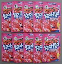10 packets of KOOL-AID drink mix: STRAWBERRY flavor, TEN packs, UNSWEETENED, yum