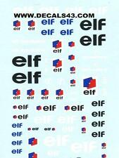 decals decalcomanie elf  1/24 valable 1/18