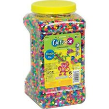 Perler Fun Fusion Beads 22,000 Multi-color Fuse Beads + FREE Small Pegboard
