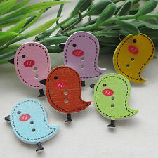 E628 Mix Color Cute Baby Birds Carton Baby Sewing Button Scrapbooking Lots 30MM