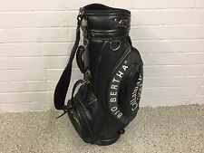 "NICE Callaway Golf BIG BERTHA Faux Leather BLACK 9"" STAFF BAG Clean CART Used"
