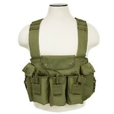 NcSTAR OD Green Tactical 7.62x39 Chest Rig Harness Magazine Pouch Holster Vest