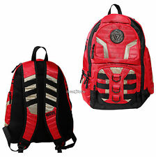 Marvel Comics Iron Man Ironman Red Rugged Built Up Backpack Book Bag Back Pack