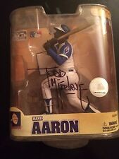 TODD MCFARLANE SIGNED HANK AARON COOPERSTOWN COLLECTION BRAVES COLLECTABLE RARE