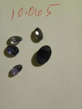 Blue Iolite 5 Pieces Oval Faceted Stones.  10.065 Carats