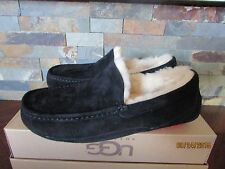 Mens Size 8 UGG Ascot Wool Sheepskin Slippers Shoes Black Red 5775 BWFSC