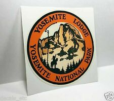 Yosemite National Park Lodge Vintage Style Travel Decal / Vinyl Sticker, Label