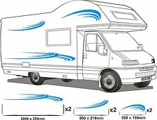 MOTORHOME VINYL GRAPHICS STICKERS DECAL SET CAMPER VAN RV CARAVAN ANY COLR set10
