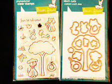 Lawn Fawn CRITTERS IN THE 'BURBS Stamps & Dies Combo Cute for Cards/Scrapbook