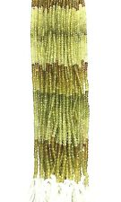Beautiful Good Quality Grossular Garnet Micro Faceted Rondelle Single Strand