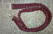 Banana Republic Stretch Leather Burgundy Belt with Gold Buckle