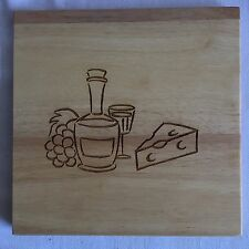 "Wooden 8"" Square Cheese Cutting Board"
