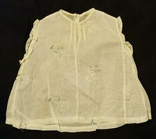 Vintage Sheer Baby Shirt Floral embroidered Size 1? 12-18 month?