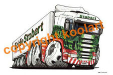 KOOLART - EDDIE STOBART FRIDGE LORRY - QUALITY MOUSE MAT / PAD