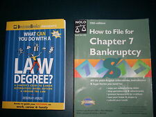 NOLO:How to File for Chapter 7 Bankruptcy+WHAT CAN YOU DO WITH A LAW DEGREE