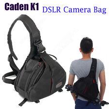Waterproof DSLR SLR Digital Camera Shoulder Bag Case Fr Canon Nikon Professional