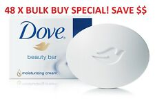 48 X DOVE SOAP BEAUTY CREAM BAR 100G MOISTURISING HAND FACE WASH SCRUB BULK BUY