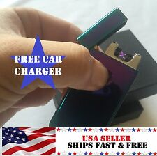 Rainbow Dual Arc Electric USB Lighter Rechargeable Flameless Windproof Plasma