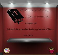 Wall Stickers Bible Quotes Verses Jer 29:11: For I know the plans  zz002