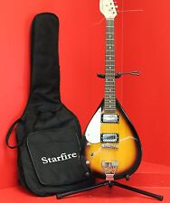 Starfire Teardrop Sunburst  6 String Electric Guitar With Gig Bag